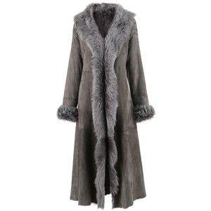 Furry Anthra Long Toscana Lamb Coat  19247ef3fe