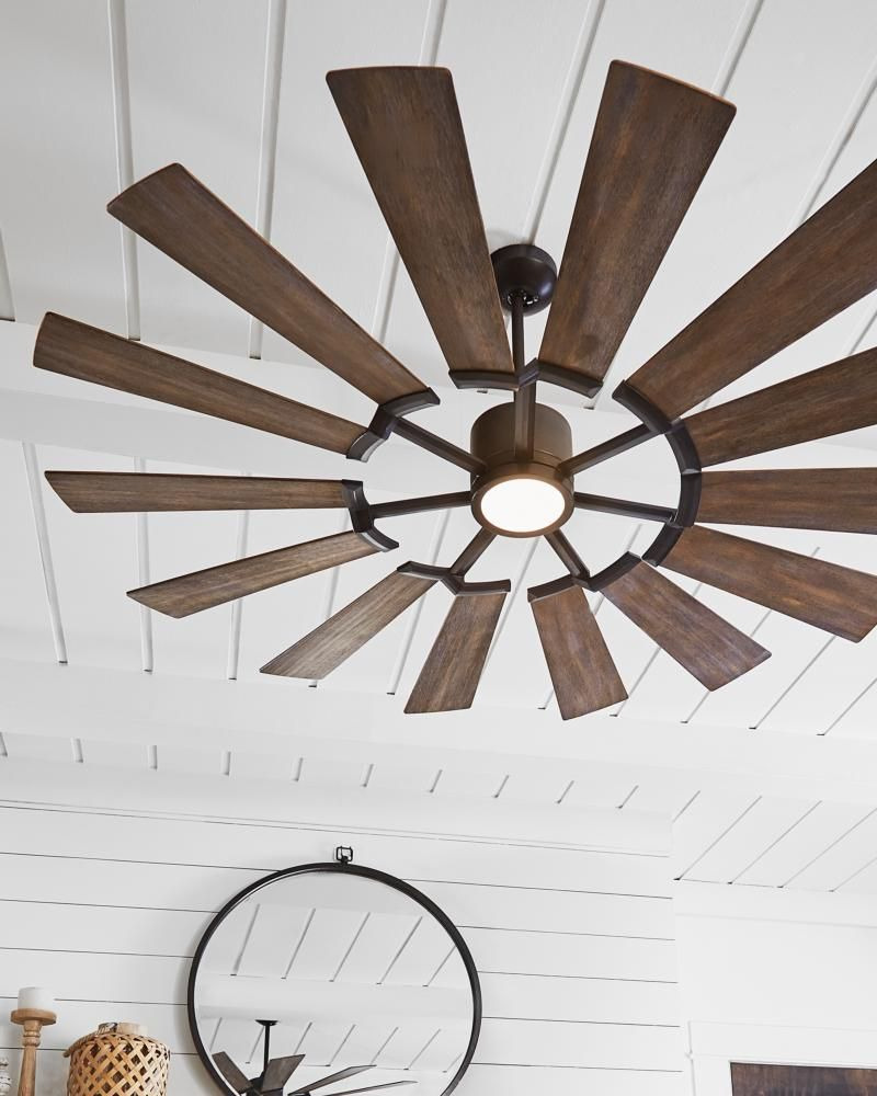 The Prairie Collection The 62 Prairie Fan Is Reminiscent Of A Windmill Boasting 14 Blades An Family Room Lighting Ceiling Fan Bedroom Ceiling Fan With Light