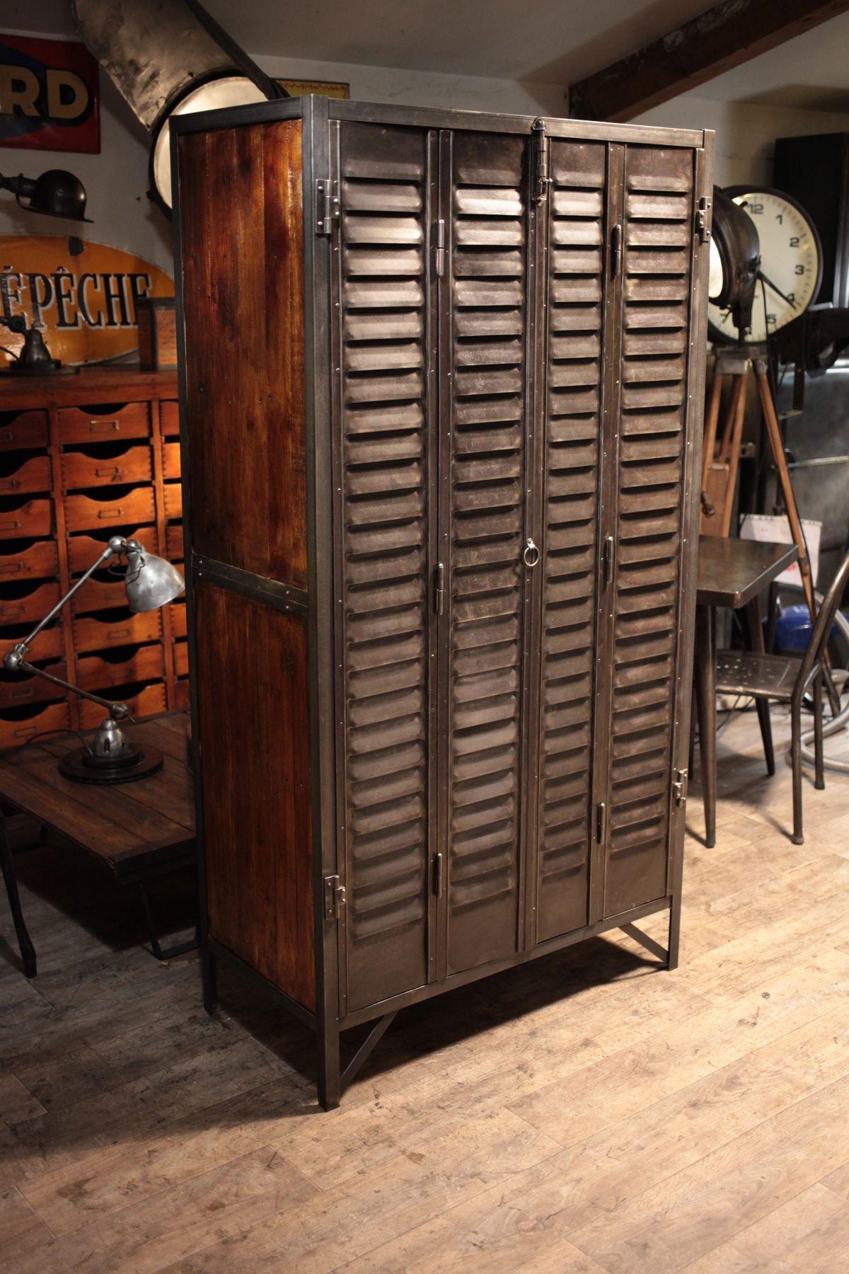 Mobilier Industriel Vintage Industrial @ Renaud Jaylac via AntiquitesBrocantes
