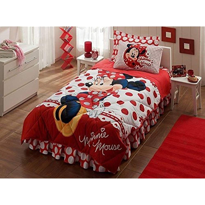 100 cotton minnie mouse bedding set girls comforter set