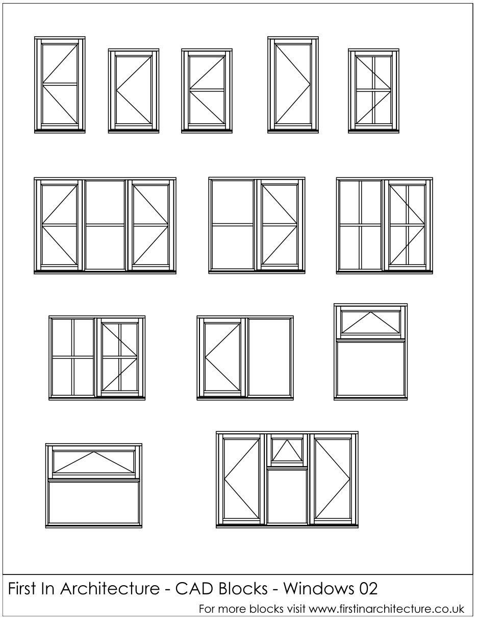 Free Cad Blocks Window Elevations Arquitectura Cad Blocks