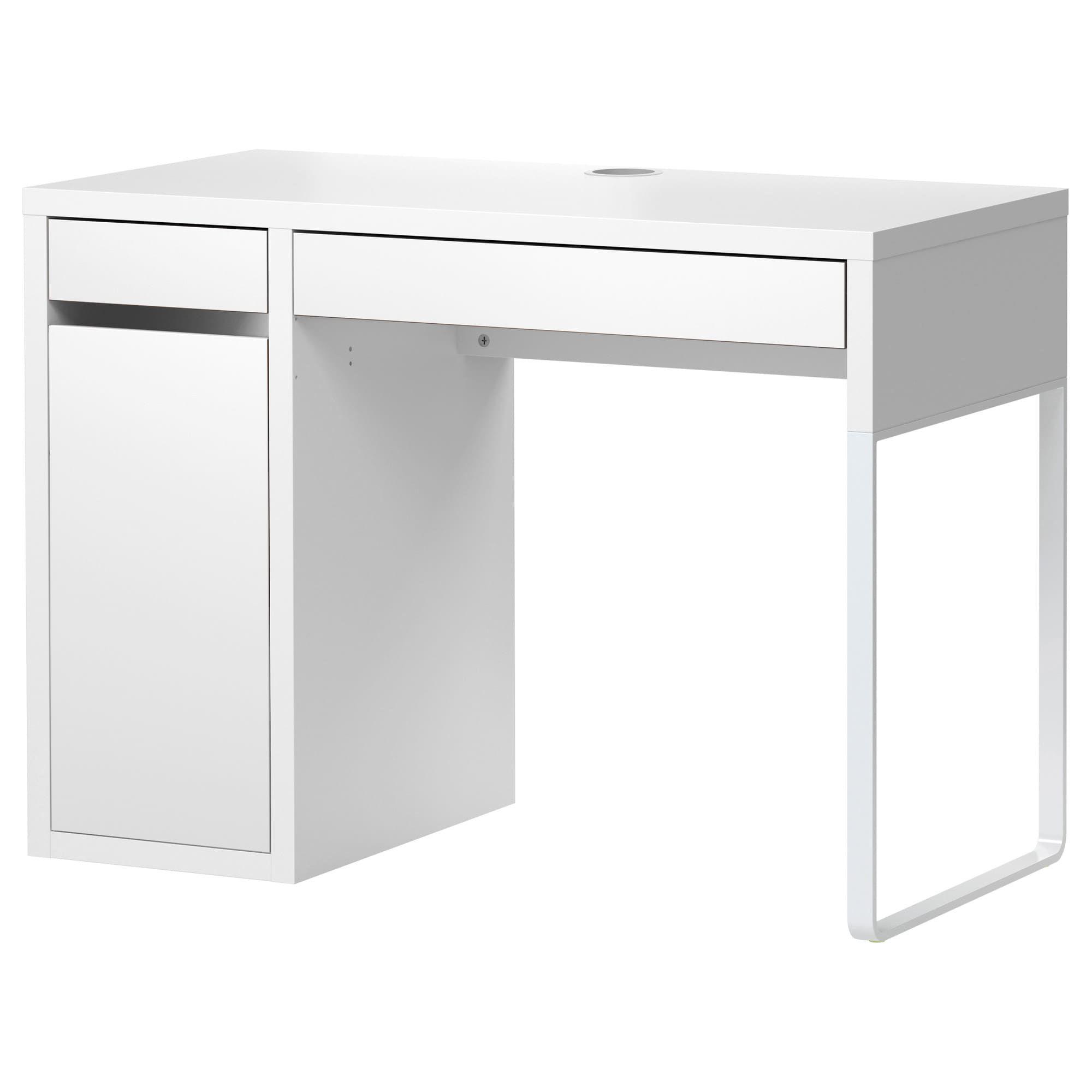 BESTÅ BURS Desk, high gloss white Pinterest Bureau