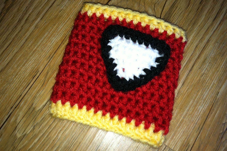 Iron Man cozy - free crochet pattern   Crochet patterns ...