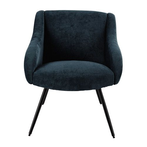 fauteuil vintage en tissu bleu projet salon pinterest armchairs vintage and fabrics. Black Bedroom Furniture Sets. Home Design Ideas