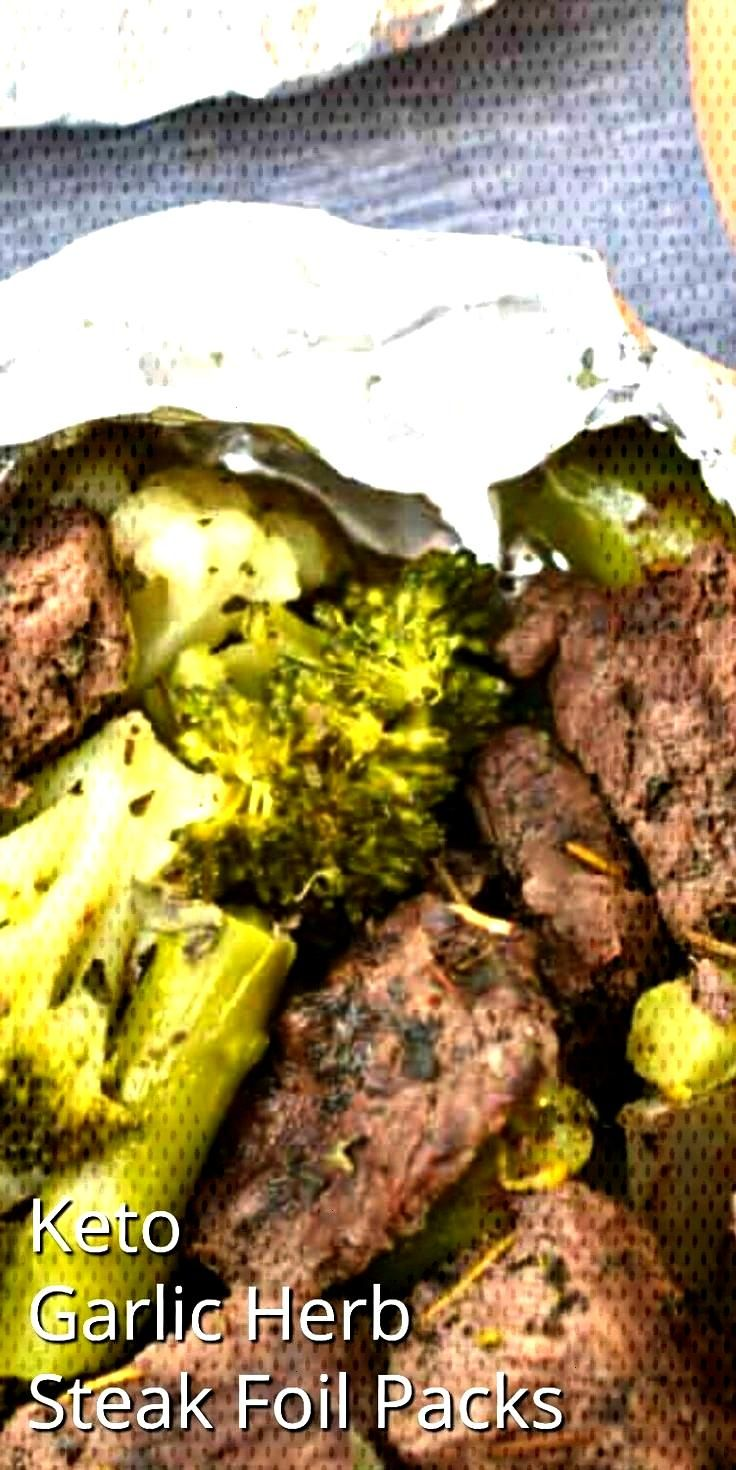 Steak Foil Packets Easy Keto Garlic Herb Steak Foil Packs - Can be made in the oven or on the grill
