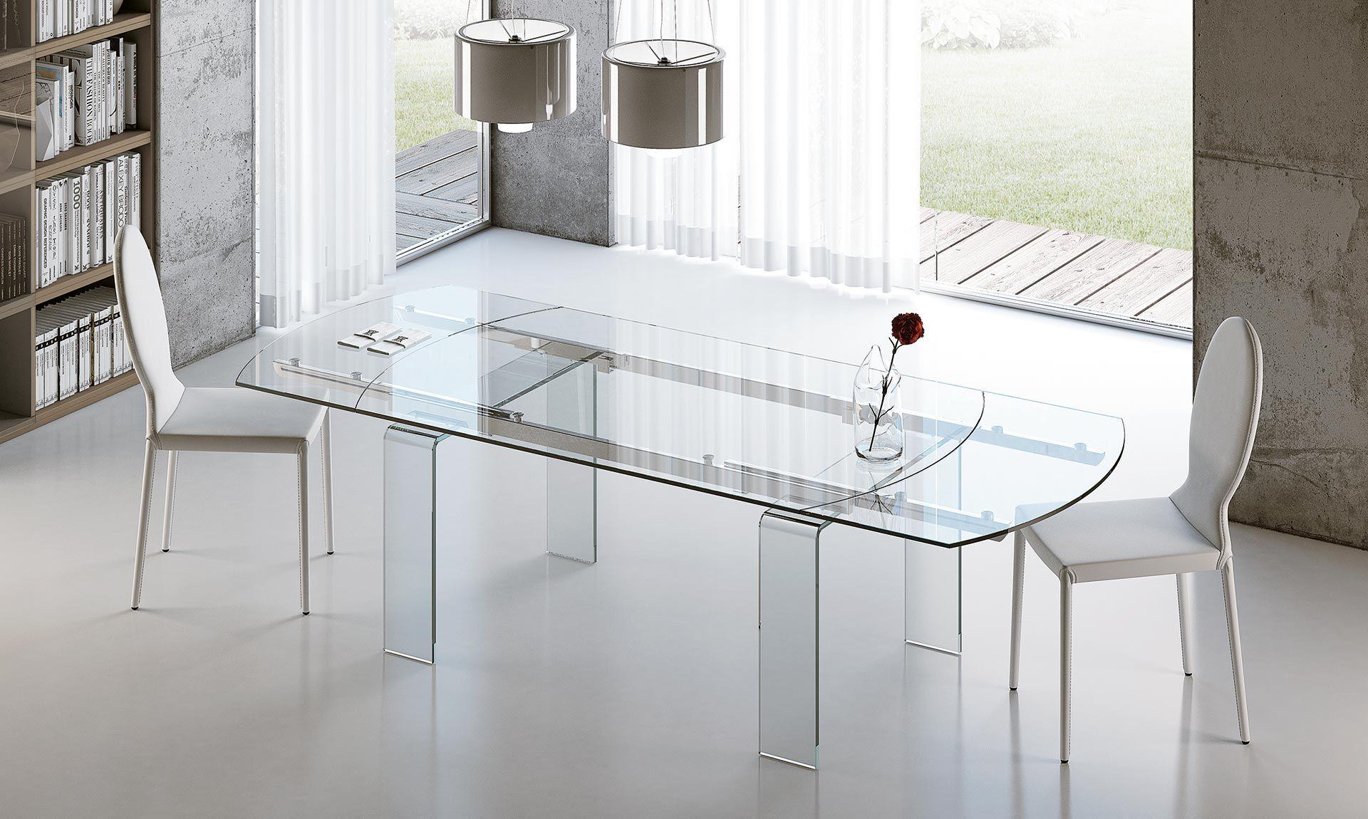 Tavolo ovale in vetro Lord Riflessi | Tavoli da Pranzo | Pinterest ...