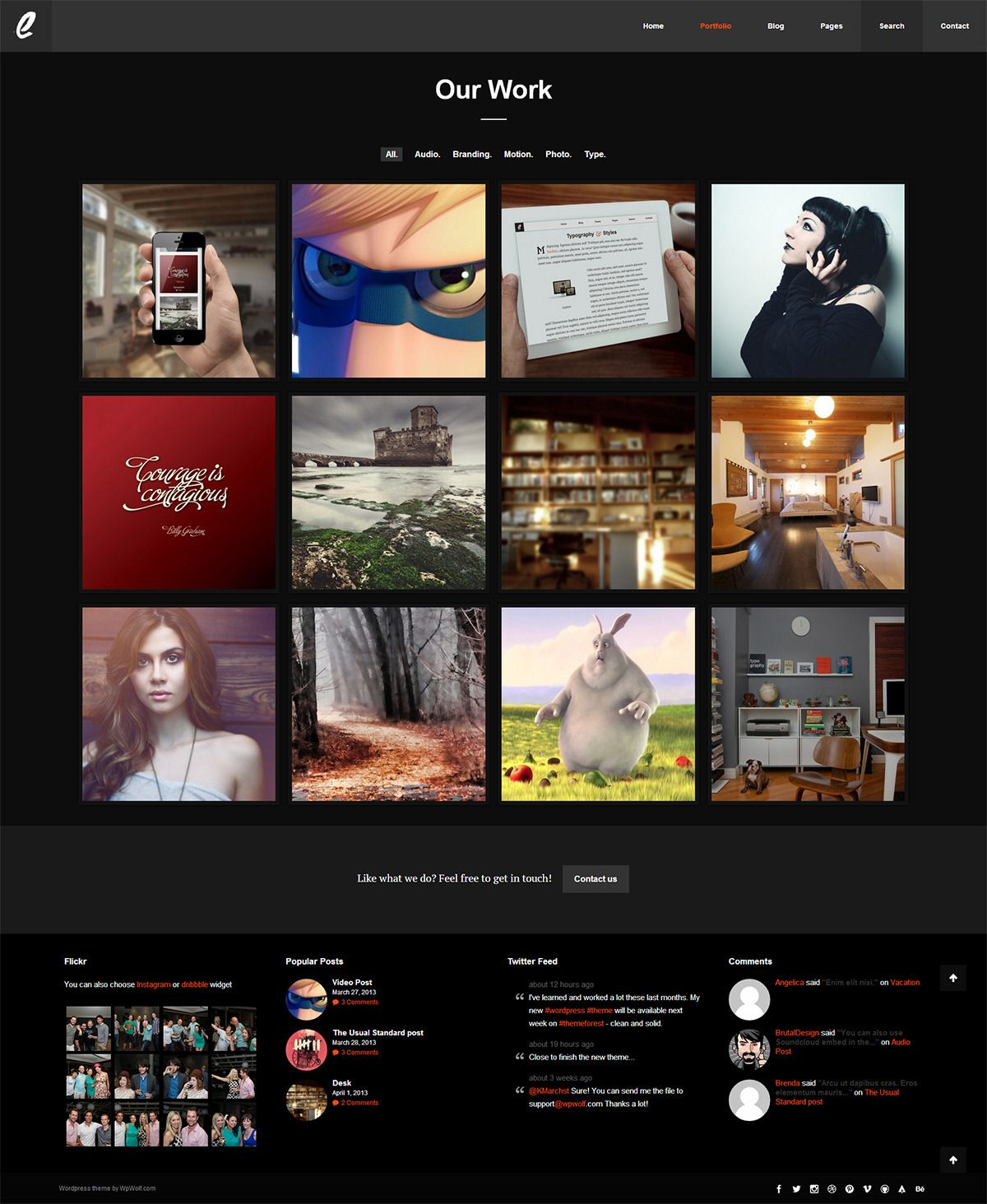 Ergo - Simple, Ergonomic and Clean Wordpress Theme #wordpress #theme #website #template #responsive #design #webdesign #flat #flatdesign #clean