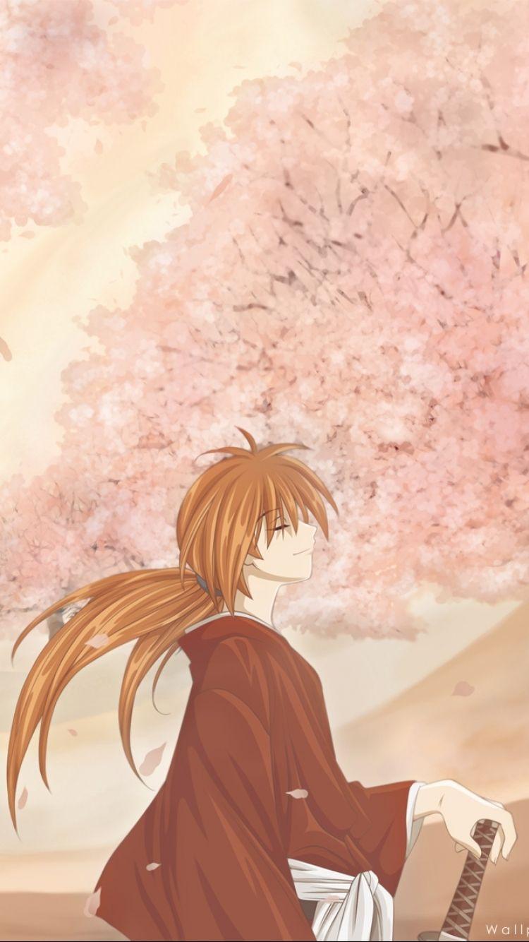 Download wallpaper 750x1334 kenshin himura rurouni kenshin art