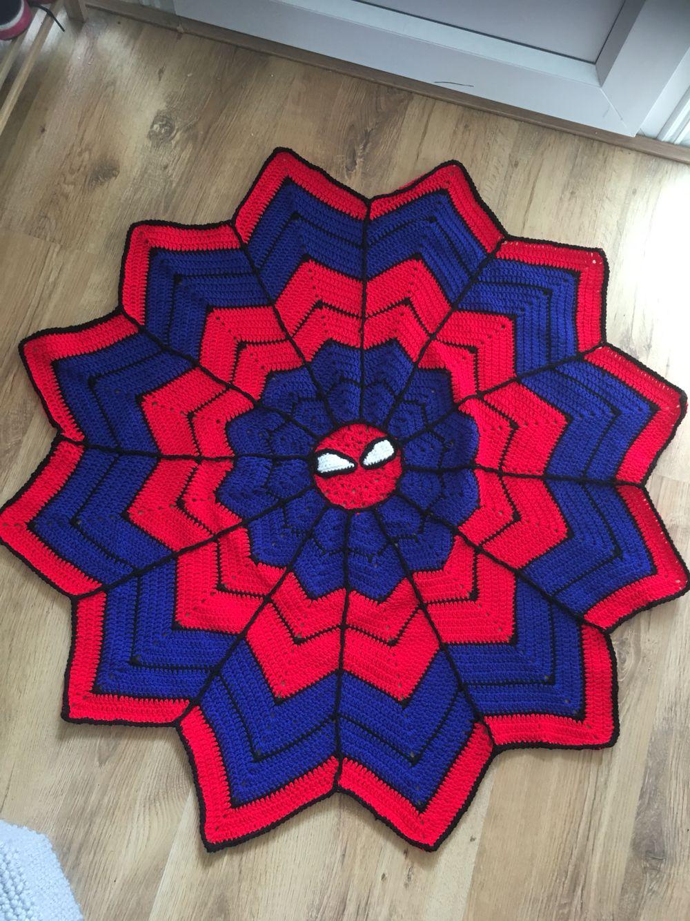 Spiderman crochet blanket made for Jack\'s 5th Birthday 2016 ...