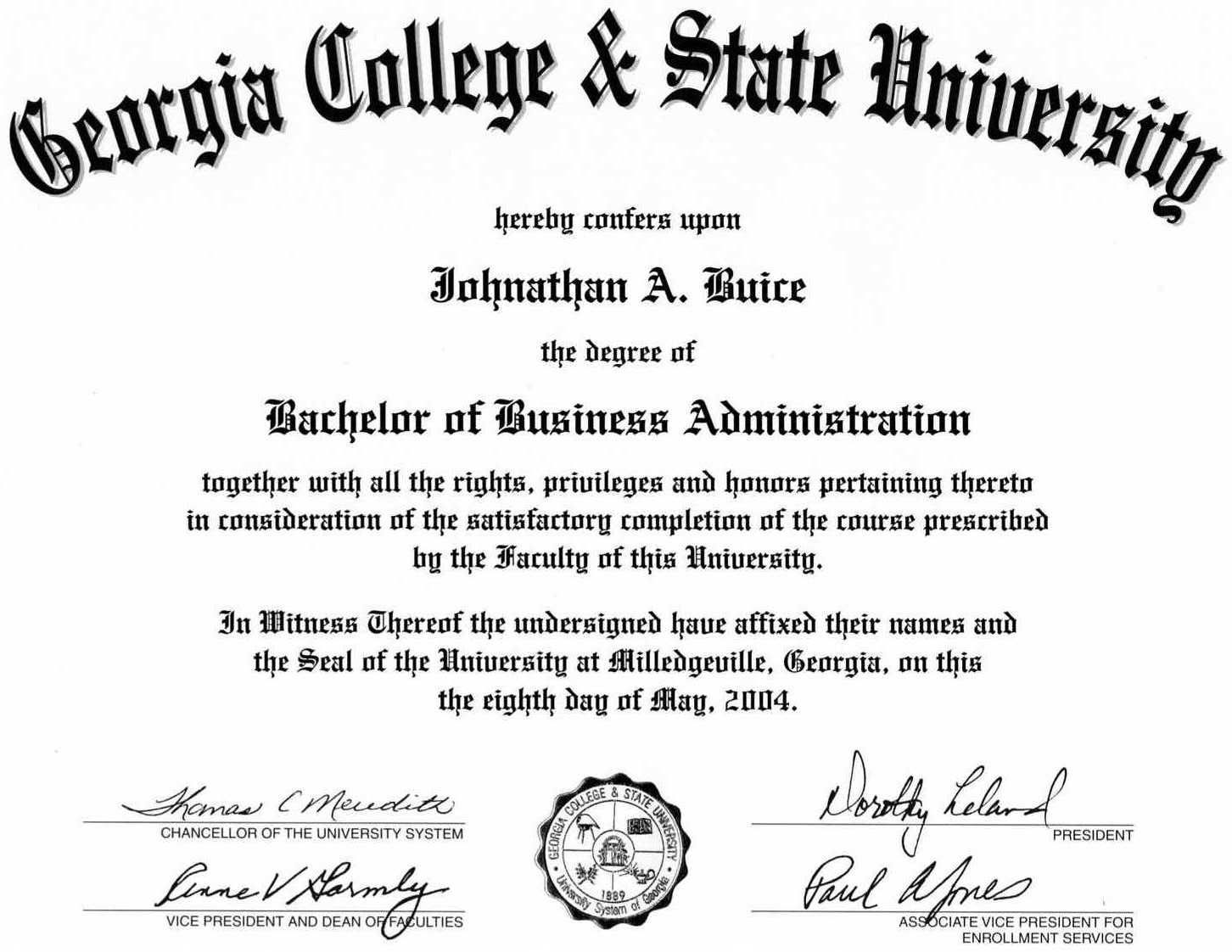 Bachelor of Science Business Administration | BesTecH Cputer ...