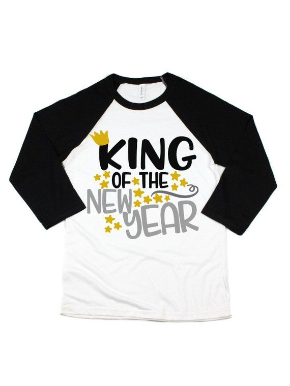 36b00060 king of the new year t-shirt- boys nye shirts - kids new years 2019 tees