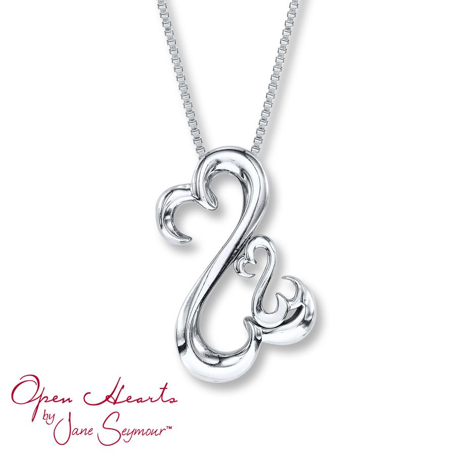 angel diamond silver kay collection exclusive open heart sterling jewelers necklace accents infinity heartgold