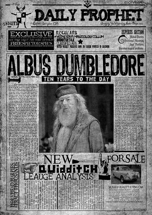 #AlbusDumbledore #Newspaper