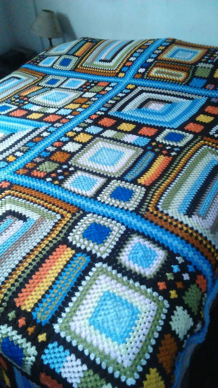 Pin de LUCIA GARCIALABAT en Crochet | Pinterest | Manta, Colcha de ...