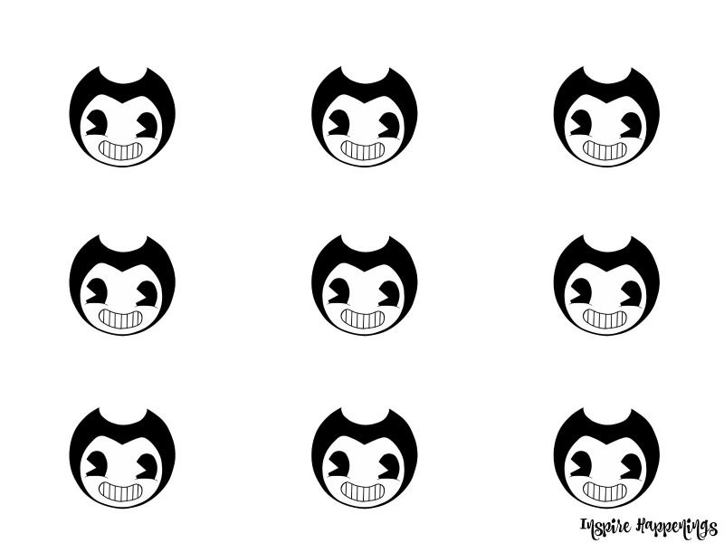 Bendy And The Ink Machine Cupcake Template