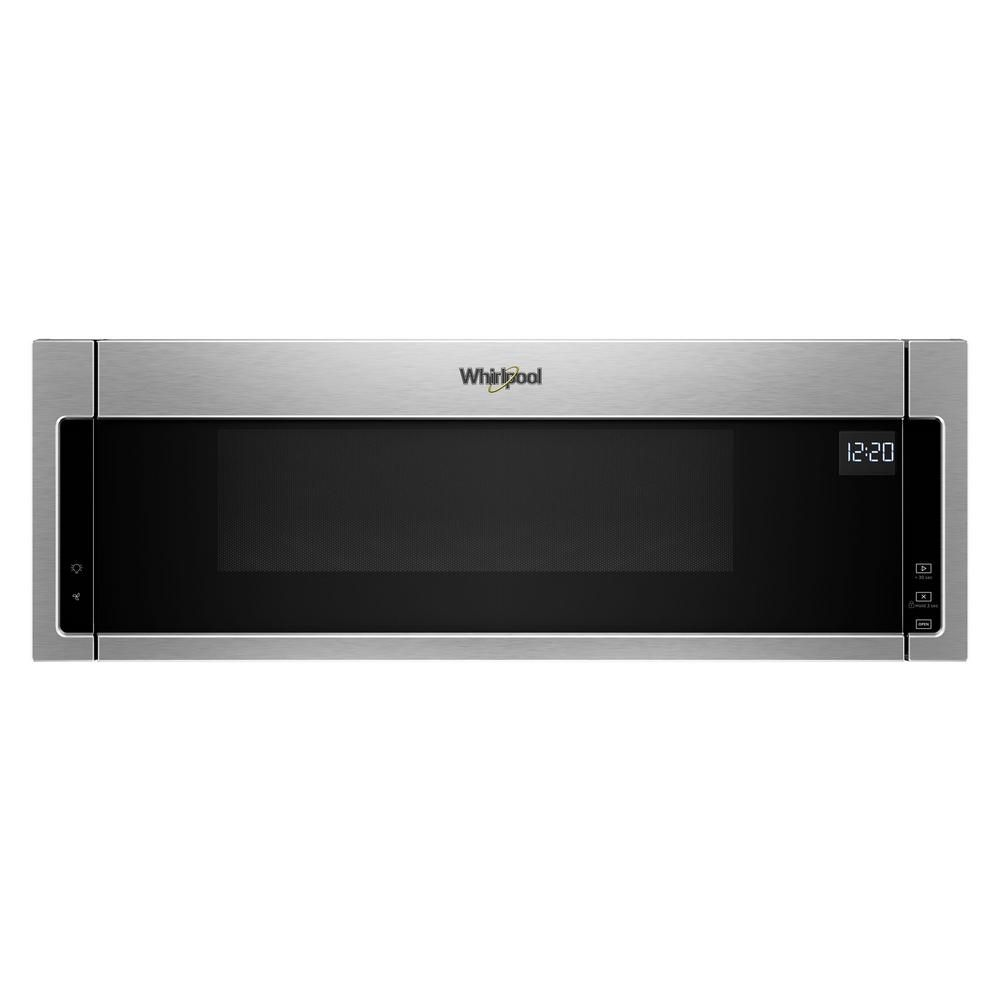 Whirlpool 1 1 Cu Ft Over The Range Low Profile Microwave Hood Combination In Stainless Steel Silver In 2020 Microwave Hood Microwave With Vent Stainless Steel Oven