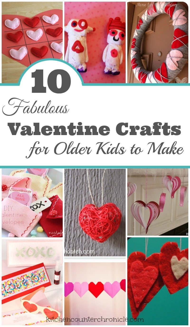 10 Fabulous Crafts for Older Kids to Make - A collection of creative Valentine's Day crafts that older kids, tweens and pre-teens can make for their friends. A little more challenging for big kids. | Valentine's Day Crafts for Kids |