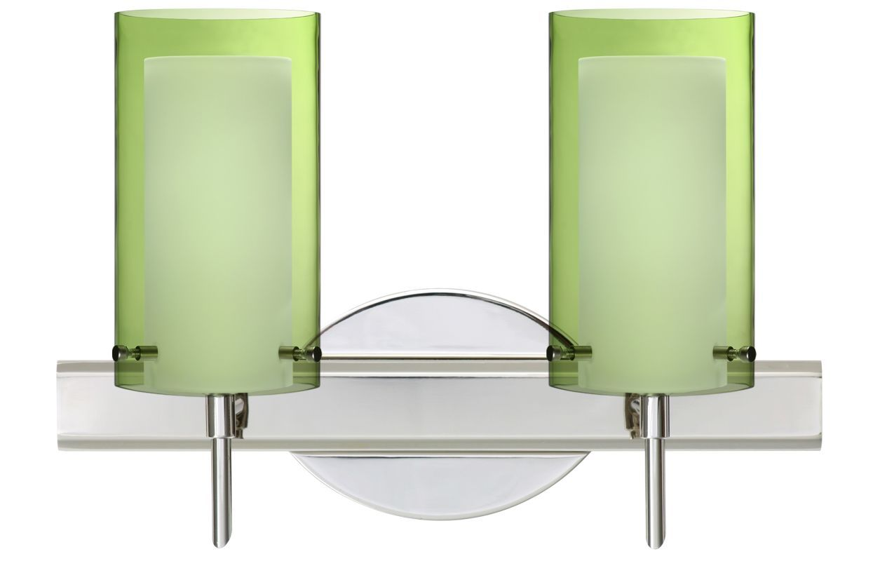 Besa Lighting 2SW-L44007 Pahu 2 Light Reversible Halogen Bathroom ...