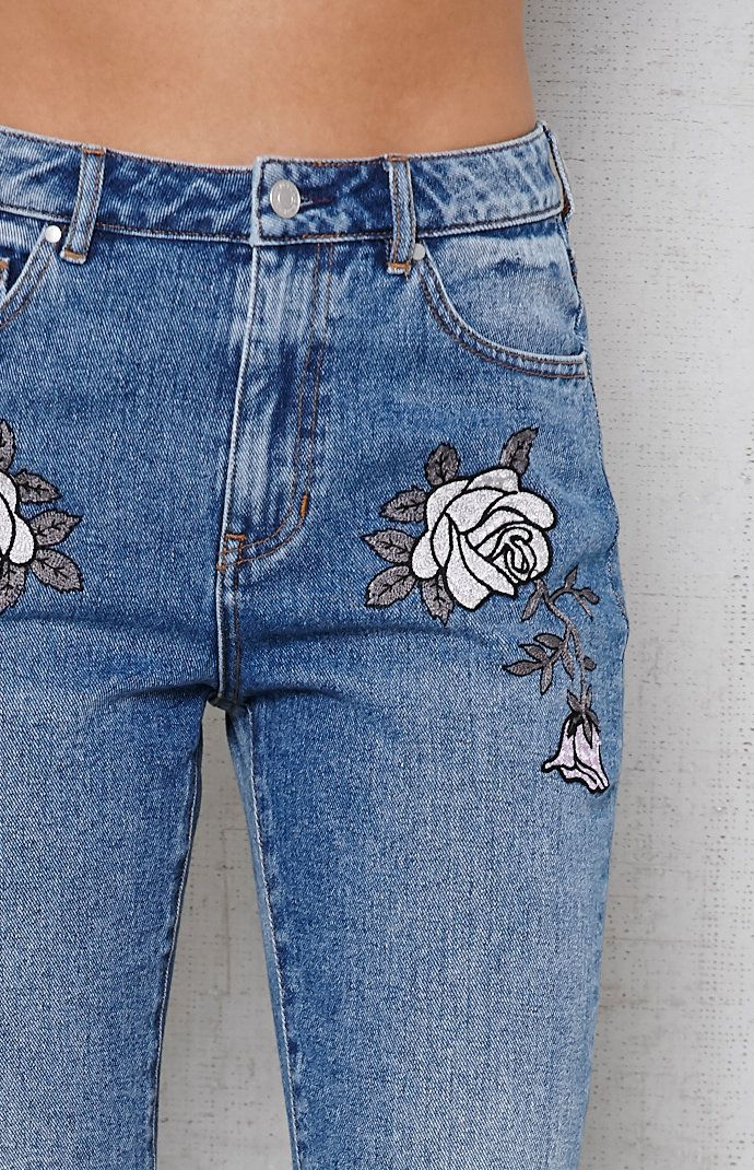 7329fa382a Liberty Wash Floral Embroidered Mom Jeans | Wishlist in 2019 ...