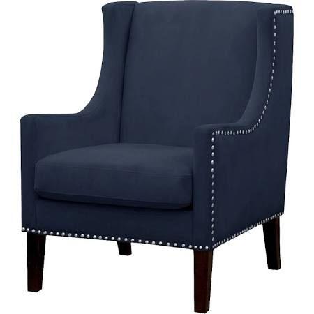 jackson wingback chair threshold velvet navy 224 target blue accent