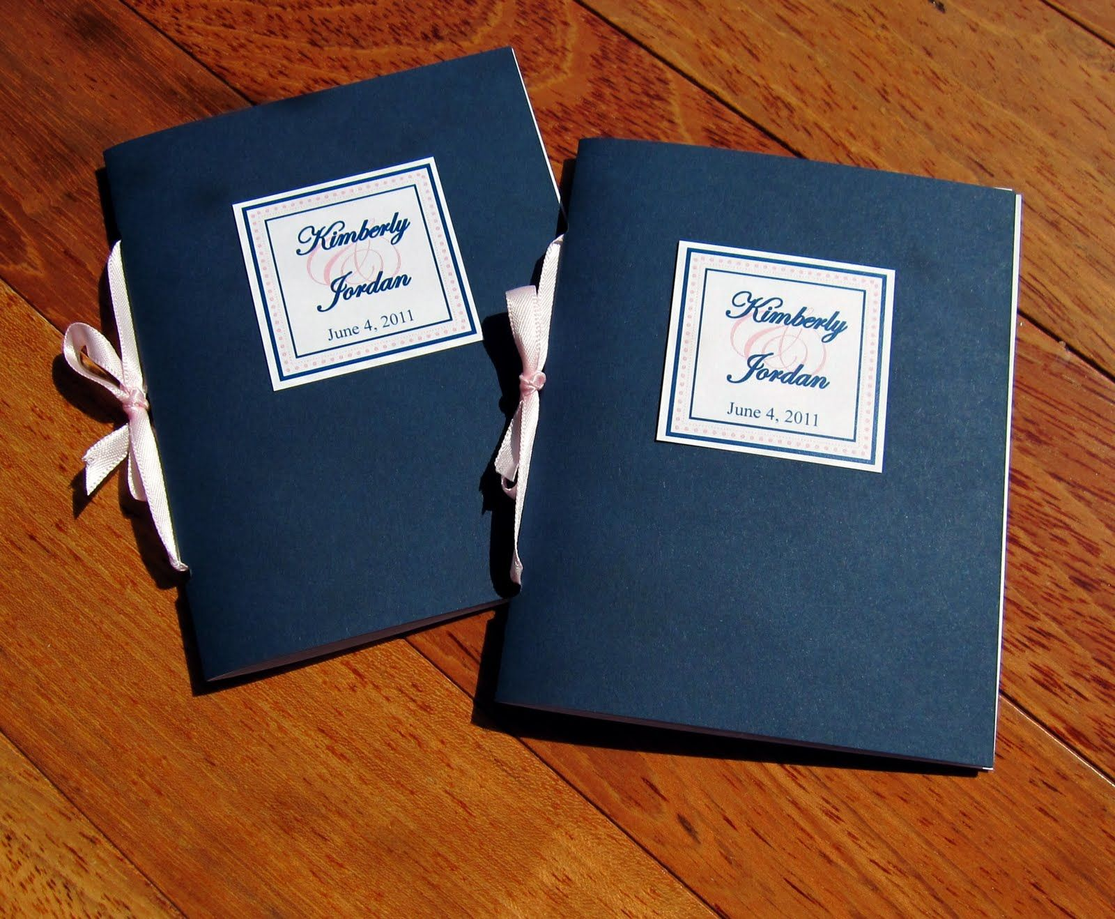 Scrapping Innovations Kim And Jordans Wedding Program Booklets Place Cards