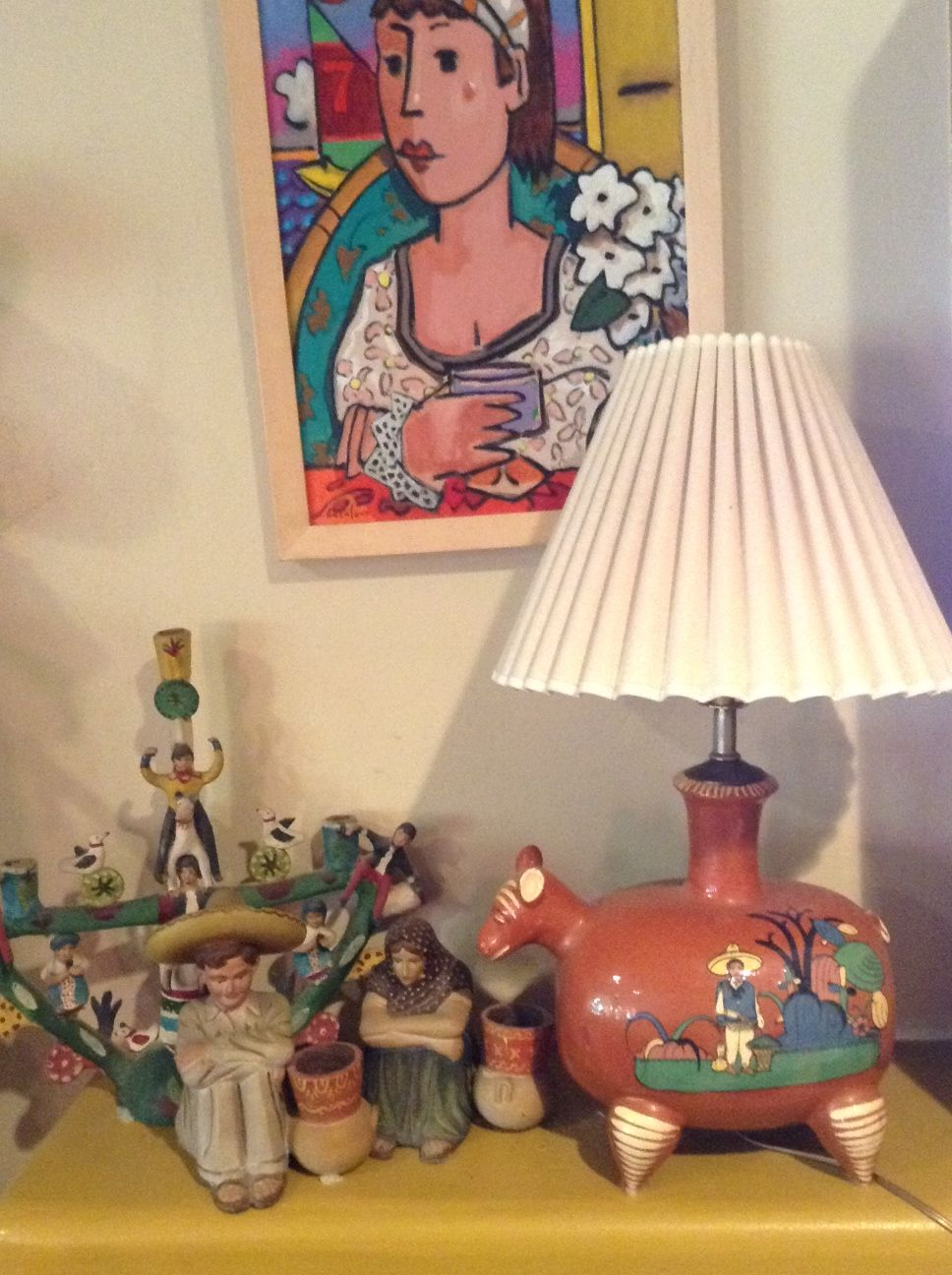 Pin By Hdi 19 On Southwest House With Images: ;D --- ️ Awesome TLAQUEPAQUE Lamp/figurines....still The Living Room!