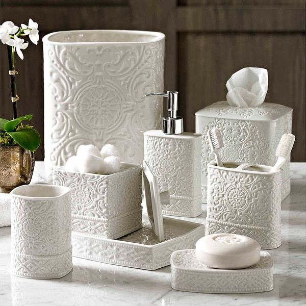 Scroll Bath Accessory Collection  Home Wishes  Pinterest  Bath Beauteous Bathroom Accessories Sets 2018