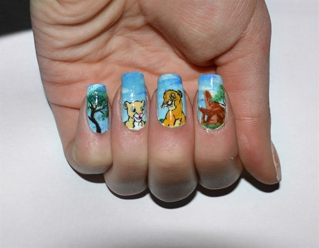 The Lion King Disney Nail Art Manicure | Books, Movies, Music and TV ...