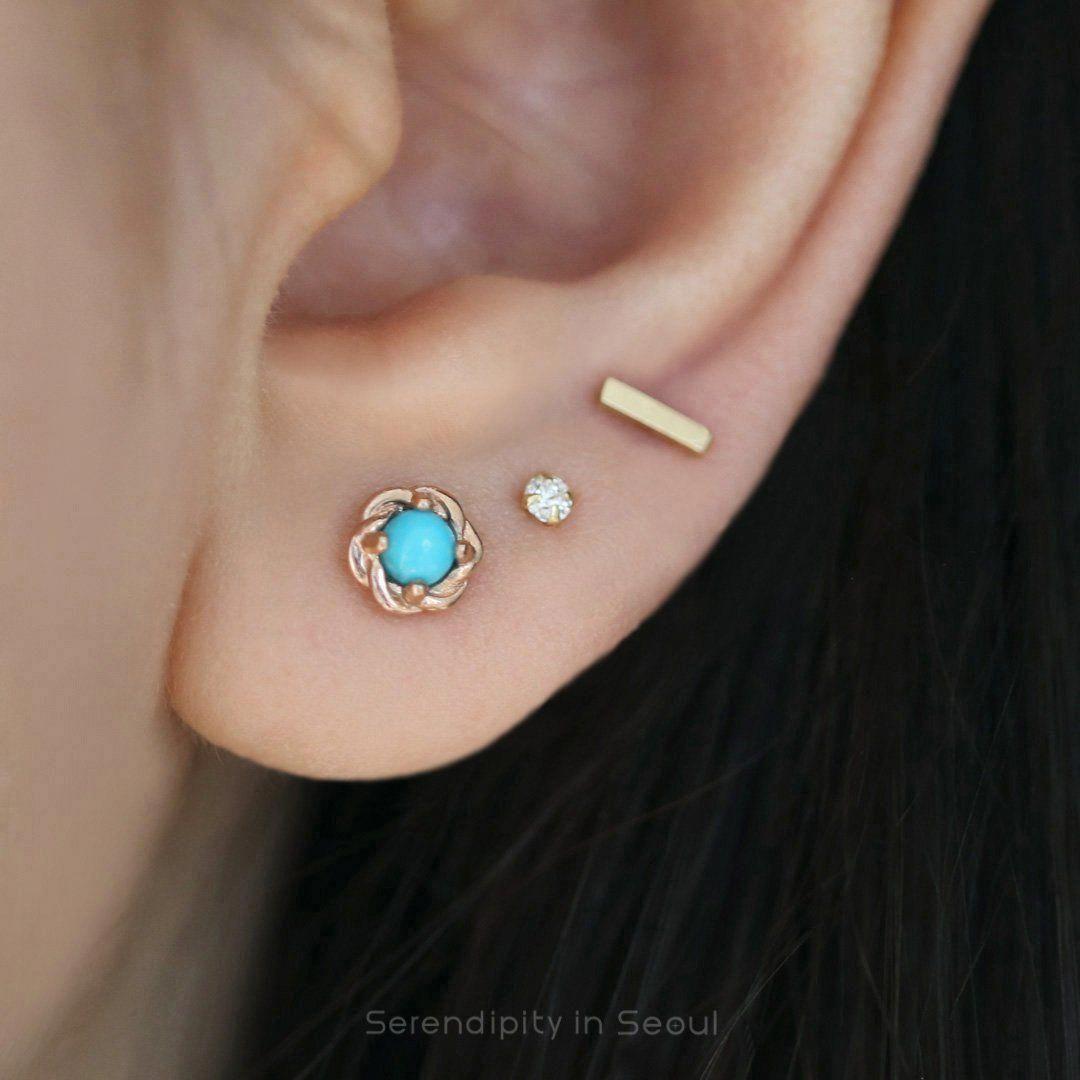 Nose piercing day 3  Turquoise Stud Earring  Diamond Earrings  Pinterest  Earrings