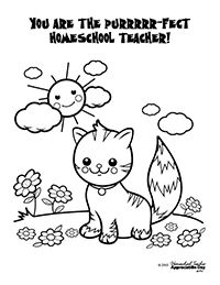 Free Homeschool Teacher Appreciation Coloring pages