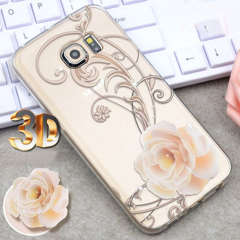 There are 3 pattern for your S7 S6 and Edge, Pink rose, Eiffel Tower, Blue rose.  Product Feature: 1. HD transparent 2. 3D three-dimensional relief