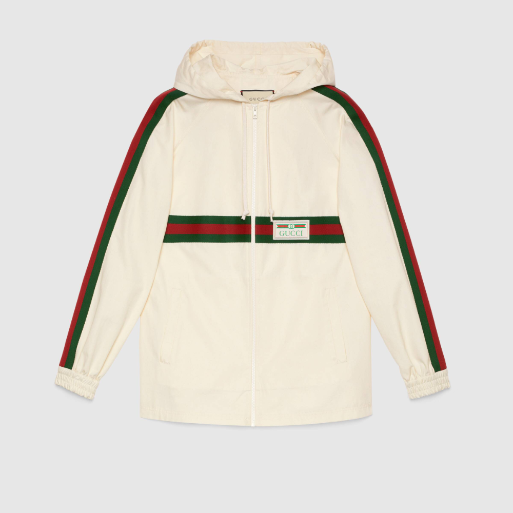 Gucci Cotton Jacket With Gucci Label Tracksuit Women Cotton Jacket Jackets For Women [ 1000 x 1000 Pixel ]