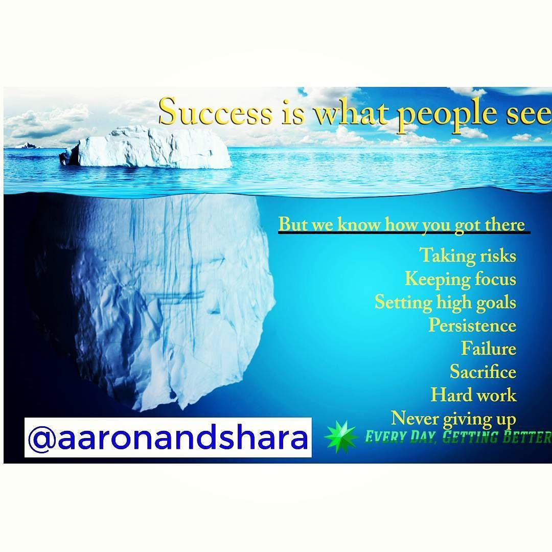 #SuccessIsLikeAnIceberg  Success can be compared to an Iceberg when you are navigating a ship throughtreacherouswaters. :)! Follow @aaronandshara  Double tap and tag someone you know will benefit! . .  You don't see the:  hard work  the risk  the late nights  struggle  Failure  Persistent  Discipline  Doubts  Criticisms  Disappointments  Rejection  Sacrifice  BUT when you do succeed...The feeling is UNMATCHED.  Just keep NAVIGATING…