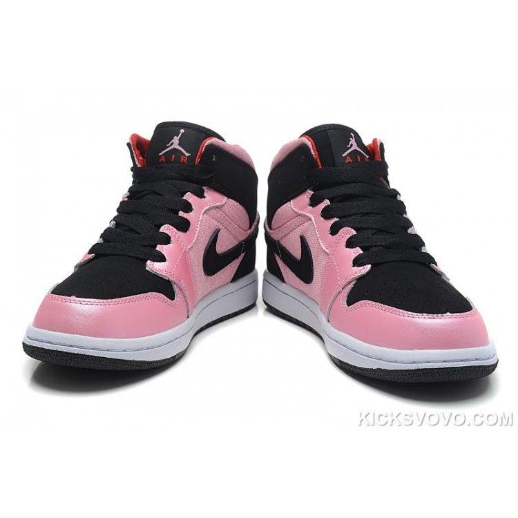 Women s Air Jordan 1 Valentines Day Grey Pink Black at kicksvovo.com ... 3aaca03ab1