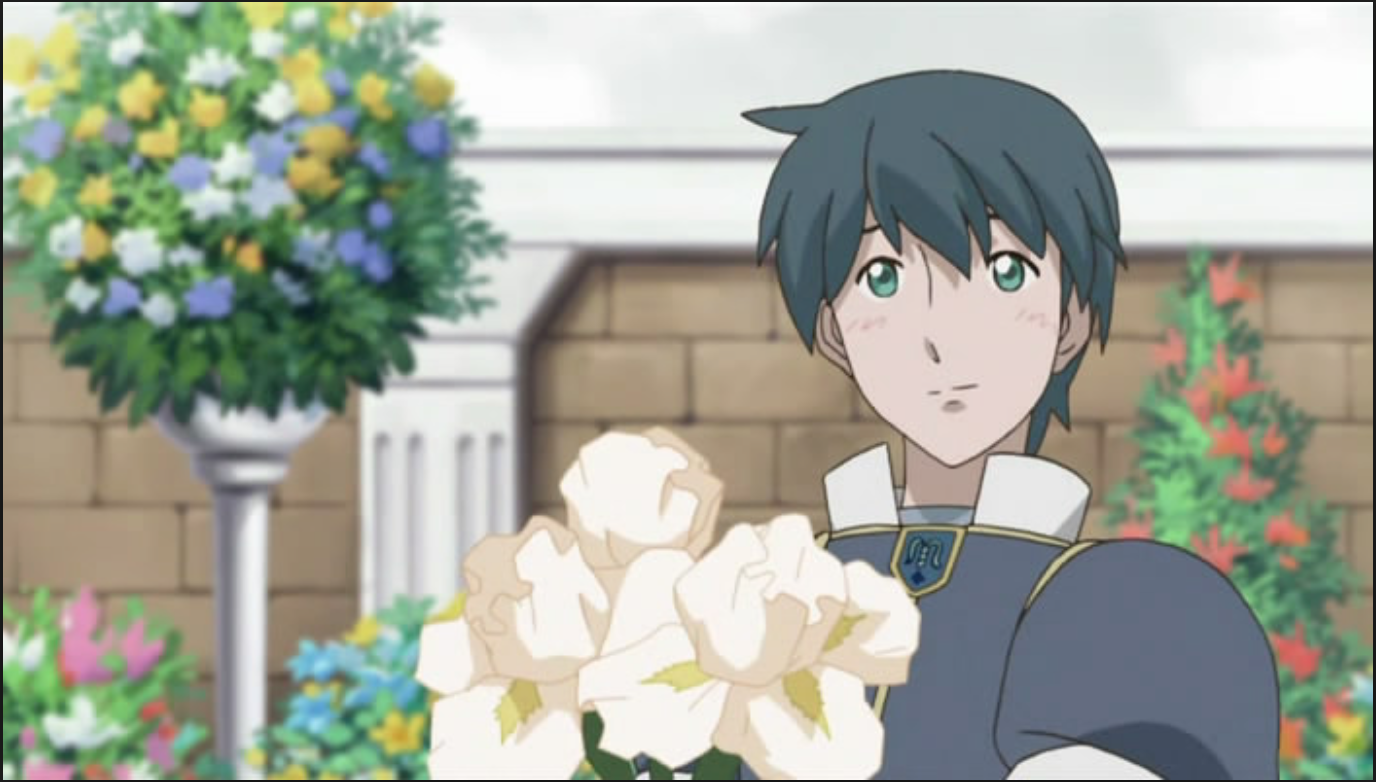 Romeo holding a bouquet of iris flowers from romeo x juliet anime romeo holding a bouquet of iris flowers from romeo x juliet anime iris flowers romeo izmirmasajfo
