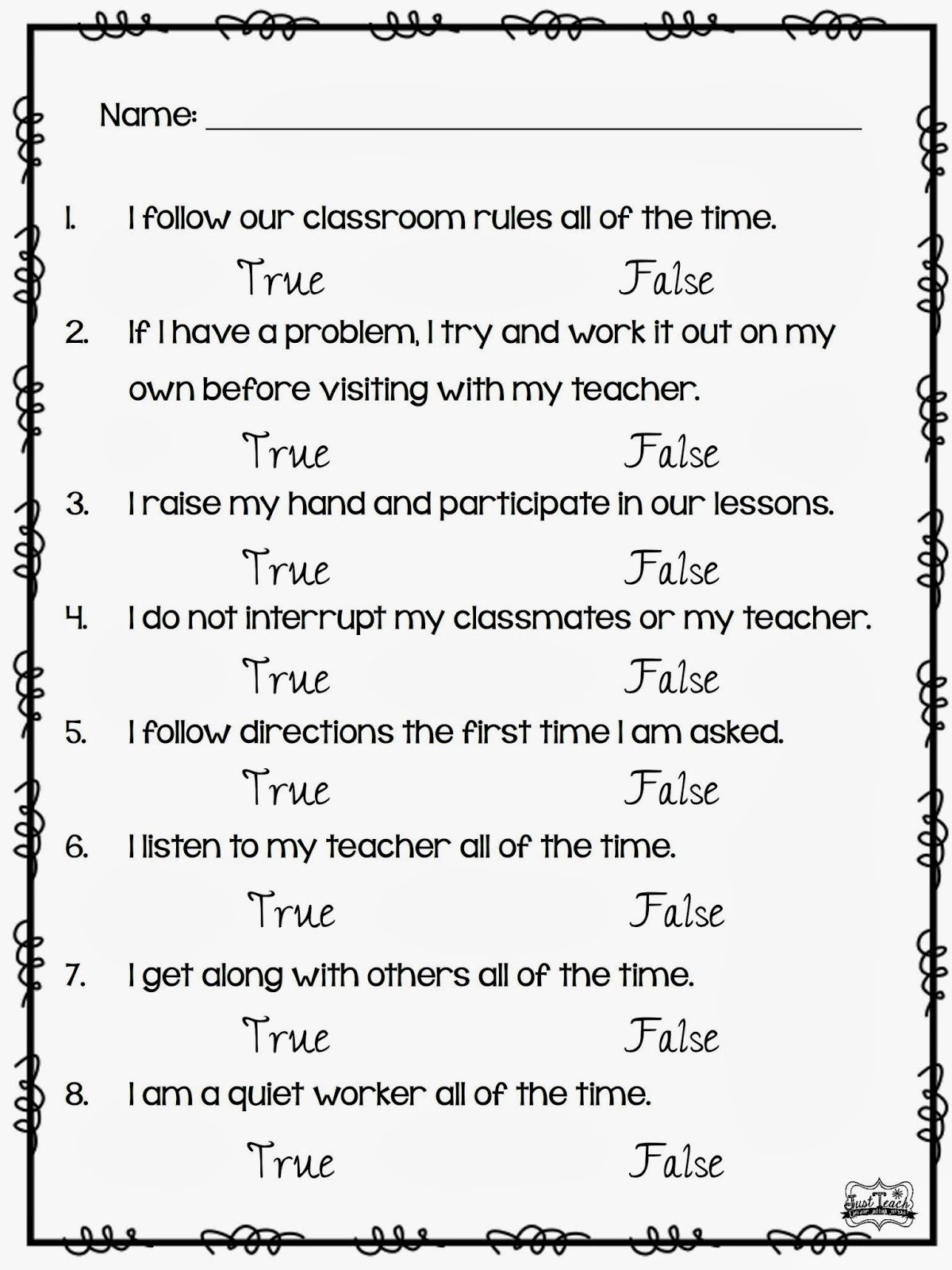 this one is for my primary friends student self reflections for