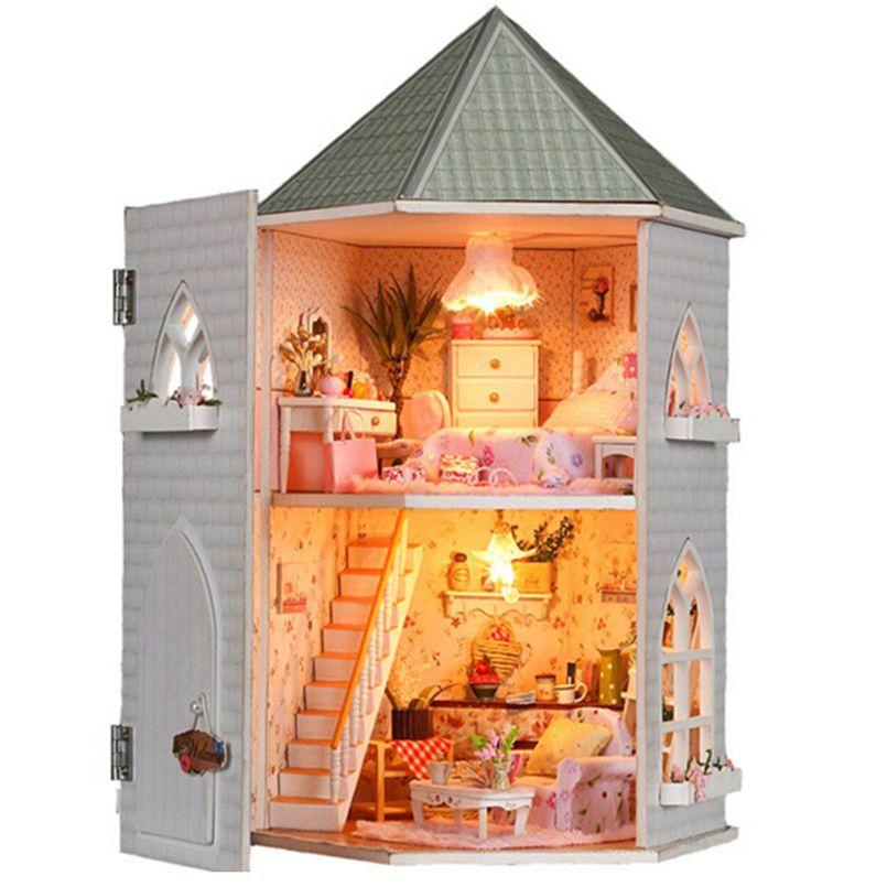 Dollhouse Château bricolage Construction Kit avec meubles