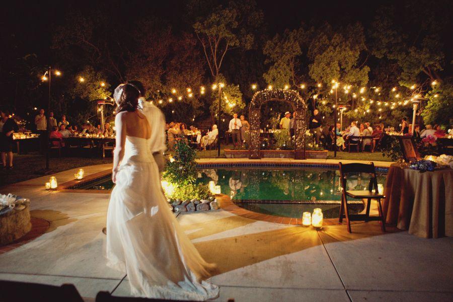 Pool Wedding Decoration Ideas: Santa Monica Poolside Wedding