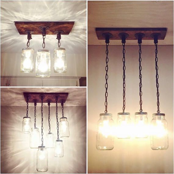 Edison Bulb Chandelier Mason Jar Lighting Mason By: Rustic Industrial Lighting Chandelier, Mason Jar