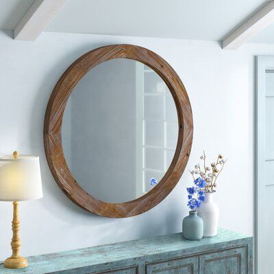 Birch Lane Dundee Mirror In 2020 Round Wood Mirror Round Wooden Mirror Mirror Wall