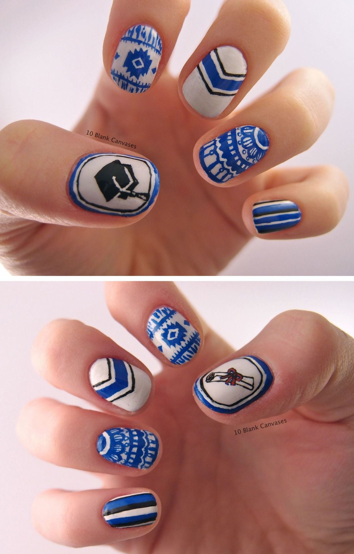 10blankcanvases:  Graduation nails