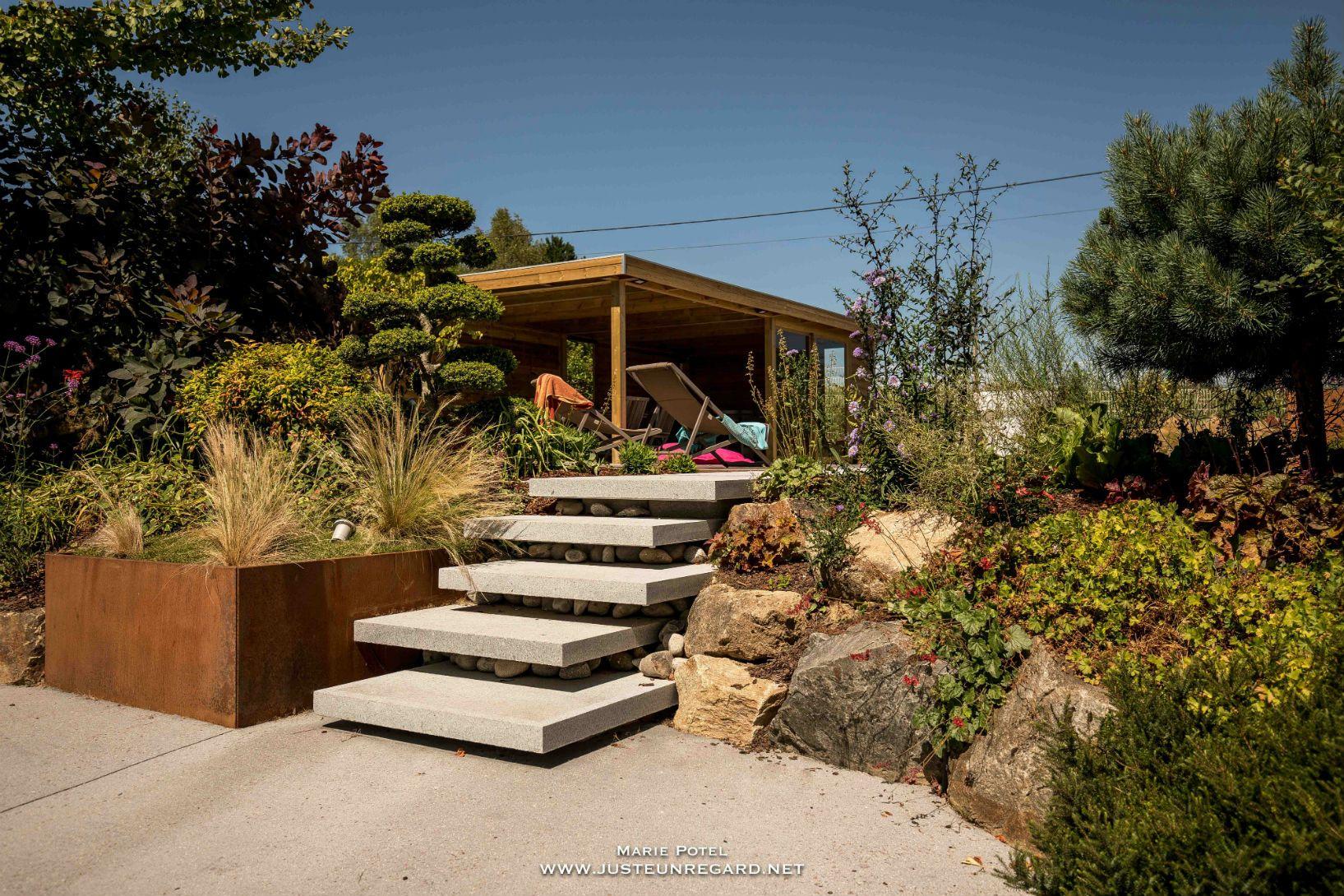 Rebeyrol Createur De Jardins Escalier Limoges Amenagement De