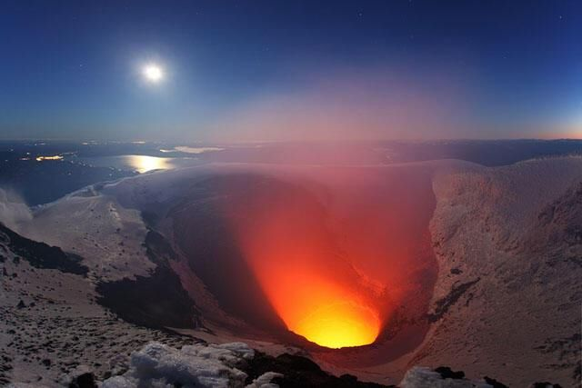 Volcán Villarrica. Chile