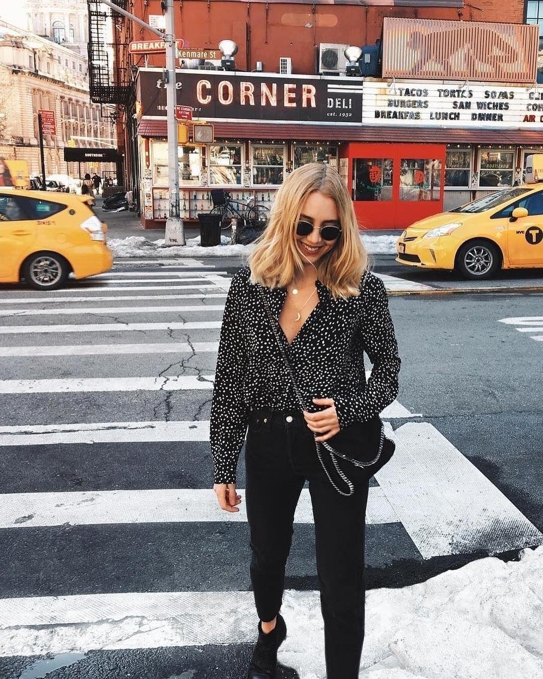 "10.6 k likerklikk, 42 kommentarer – & Other Stories (@andotherstories) på Instagram: ""@viktoria.dahlberg bringing spring to the streets of New York. Link to our spring silks in bio.…"""
