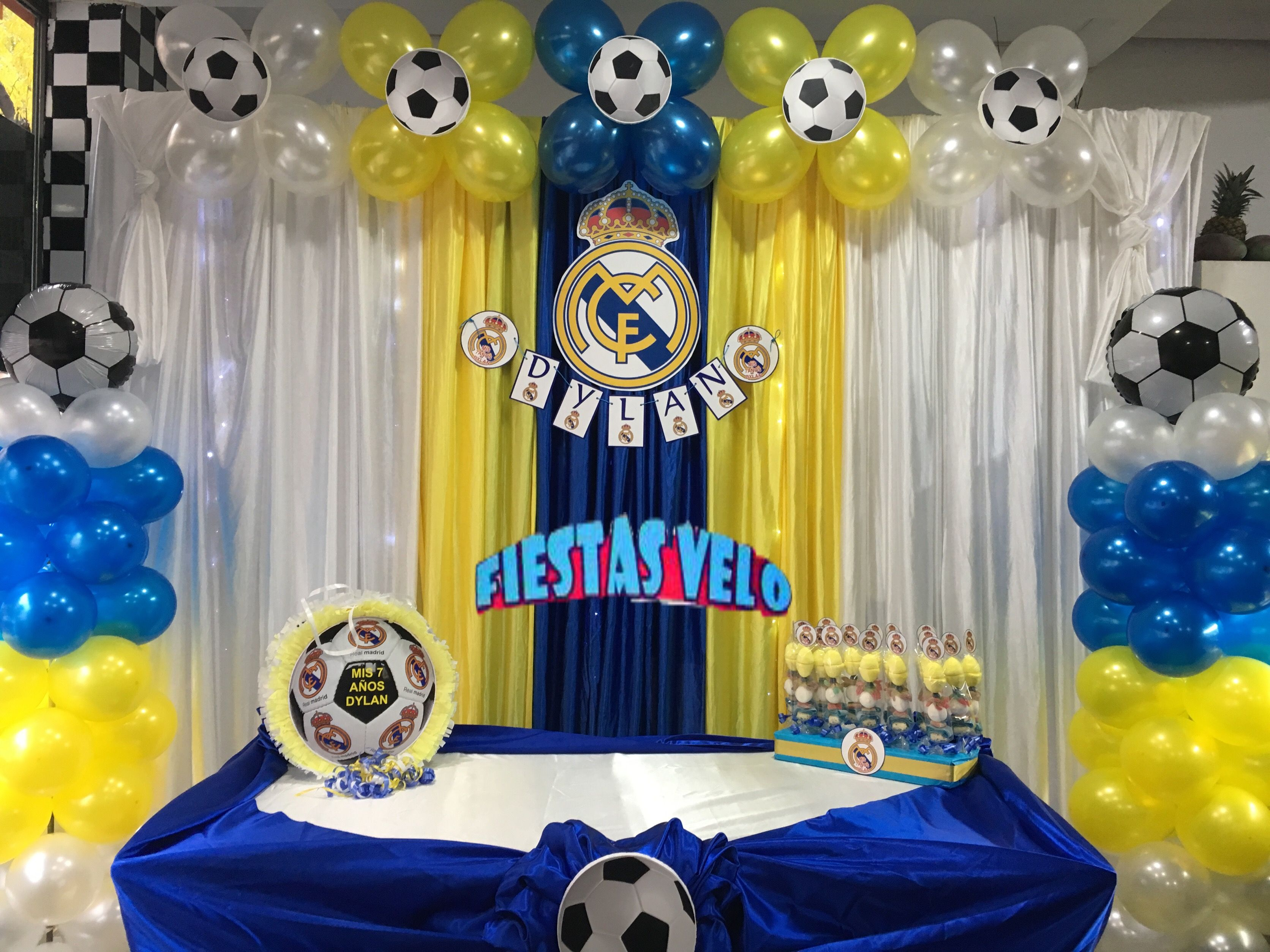 Pin by decoraciones para eventos fiestas velo on decoracin real bday party ideas fiesta real madrid soccer birthday parties 2nd birthday berenice party parties kids dessert tables theme parties altavistaventures Images