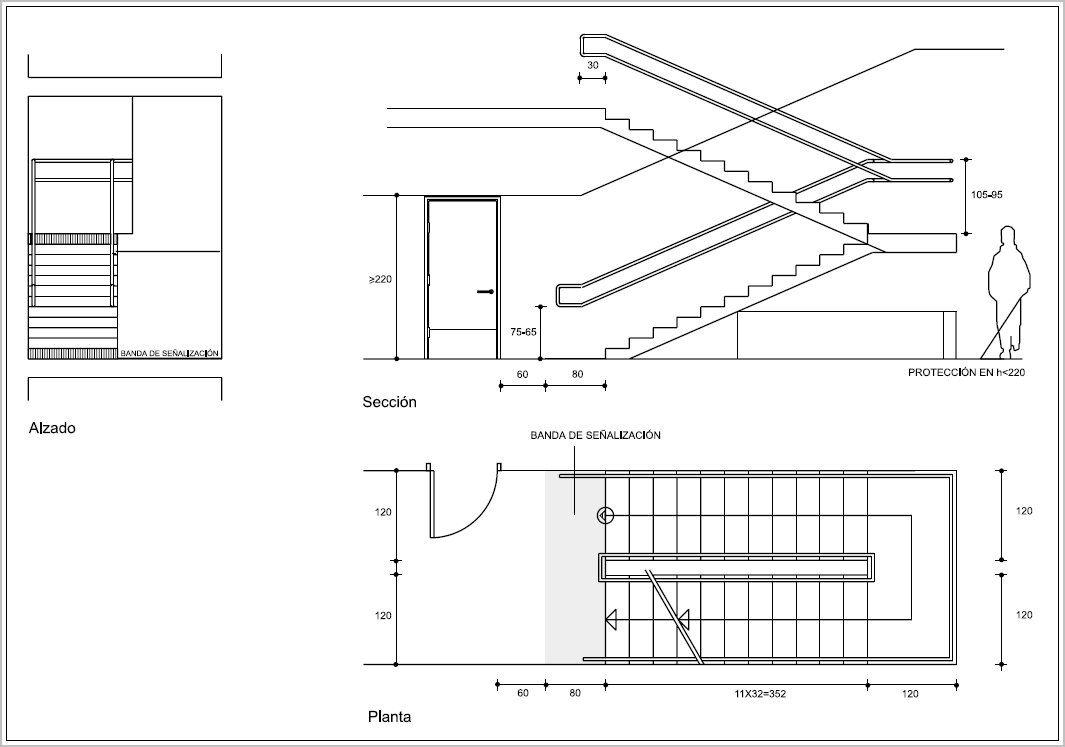Medidas de escaleras para casas dise os arquitect nicos for Escalera de medidas