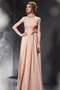Robe soiree or rose