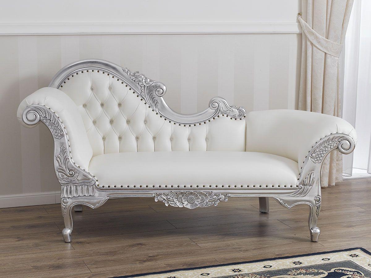 Divani Poltrone Dormeuse.Divano Dormeuse Chaise Longue Stile Barocco Moderno Foglia