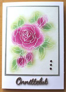 Stampendous stamp, rose, congratulations