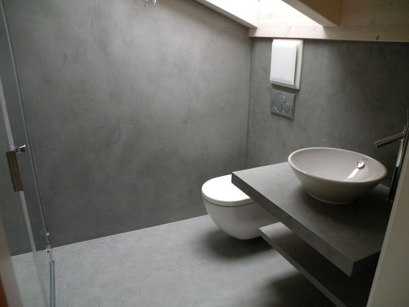 Toilet Beton Cire : Voorbeelden betoncireshop betoncire betoncire floor